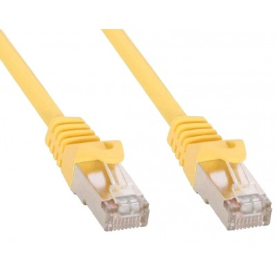 Cavo di rete Patch in rame Cat.6 Giallo SFTP LSZH 5m - Techly Professional - ICOC LS6-050-YET-1