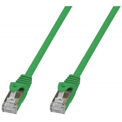 Cavo di Rete Patch in Rame Cat. 6A SFTP LSZH 0,25 m Verde - Techly Professional - ICOC LS6A-0025-GRT-1