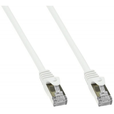 Cavo di Rete Patch in Rame Cat. 6A SFTP LSZH 0,25 m Bianco - Techly Professional - ICOC LS6A-0025-WHT-1