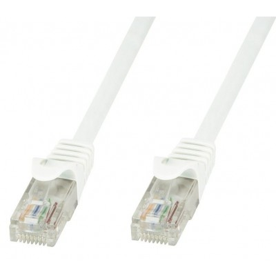Cavo di Rete Patch in Rame Cat.6 Bianco UTP 1m - Techly Professional - ICOC U6-6U-010-WHT-1