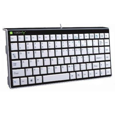 Mini tastiera PS2/USB Bianca KB-100 - Techly - IDATA KB-100WH-1