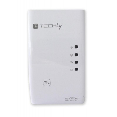 Ripetitore Wireless 300N (Range Extender) con WPS - Techly - I-WL-REPEATER-4