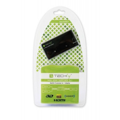 Switch HDMI 2 IN 1 OUT Full HD 1080p 3D - Techly - IDATA HDMI-21-1