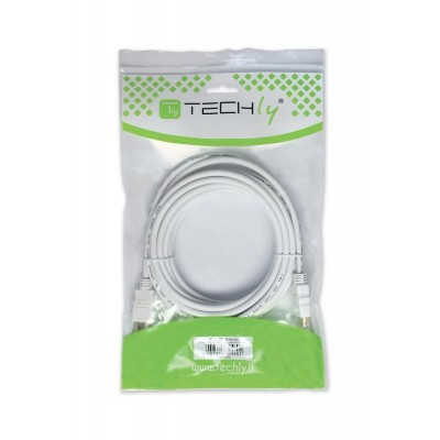 Cavo HDMI High Speed 19 pin M/M 10,0 m bianco - Techly - ICOC HDMI-W-100-1