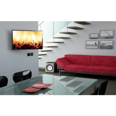 "Supporto a Muro Inclinabile con Molla a Gas per TV 32-42"" 640mm Nero - Techly - ICA-LCD G202-BK-5"