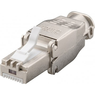 Plug RJ45 Cat.6A Schermato STP Tooless con fermacavo  - Techly Professional - IWP-8P8C-TLS6AT-1