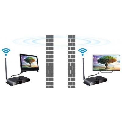 Kit Wireless HDMI Full HD via HDbitT fino a 50m - Techly - IDATA HDMI-WL50-6