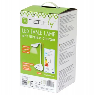 Lampada a LED da Tavolo con Caricatore Wireless - Techly - I-LAMP-DSK6-2