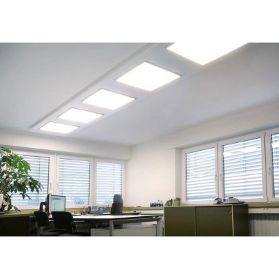 Pannello Luminoso a LED Plus 60x60cm 42W Bianco Caldo A+ - Techly - I-LED-P66-P342W-2