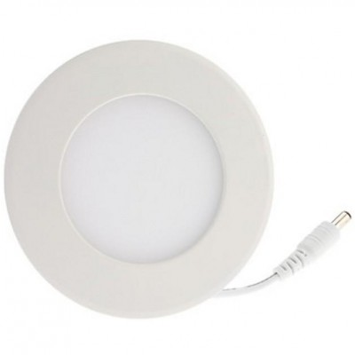 "Pannello Luminoso a LED Rotondo con Diametro 4"" 8W Bianco Neutro - Techly - I-LED-PAN-08W-NW4-1"