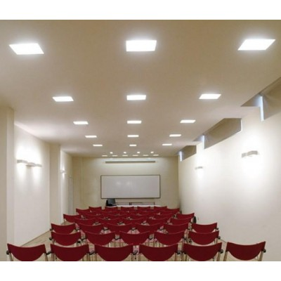 Pannello Luminoso a LED 15 x 15 cm 12W Bianco Caldo - Techly - I-LED-PAN-12W-WWS-9