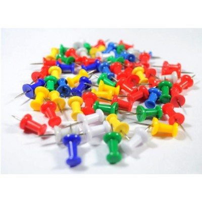 Spilli Colorati per Lavagne in Sughero 20 pz - Techly - ICA-CB PIN-2
