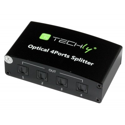 Splitter Audio Digitale Toslink 4 Porte - Techly - IDATA TOS-SP4-0