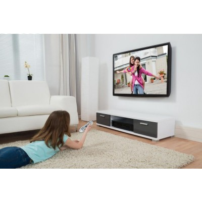 Supporto a muro per TV LED LCD 19 - 37'' inclinabile 1 snodo Bianco - Techly - ICA-LCD 2900WH-5