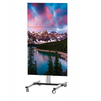 "Supporto a Pavimento per 3 TV LCD/LED 45-55"" - Techly - ICA-TR 346W-1"