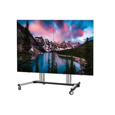 "Supporto a Pavimento per 4 TV LCD/LED 45-55"" - Techly - ICA-TR 446W-1"