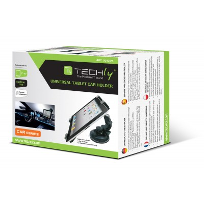 "Supporto Universale da Auto con Ventosa per Tablet 7-10.1"" - Techly - I-TABLET-VENT-1"