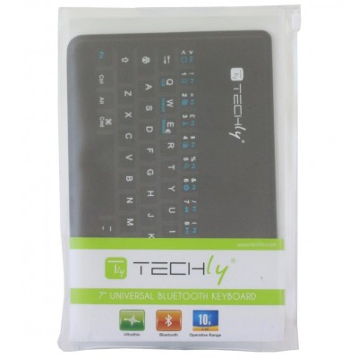 Mini Tastiera Ultra Slim Bluetooth 3.0 per Smartphone e Tablet - Techly - ICTB1007-1