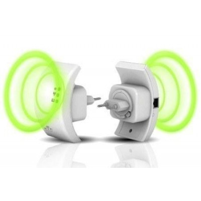 Ripetitore Wireless 300N (Range Extender) con WPS - Techly - I-WL-REPEATER-9