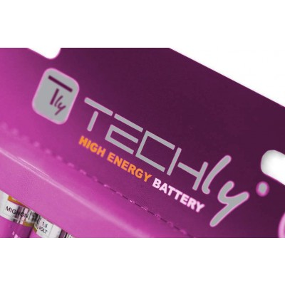 Blister 12 Batterie Power Plus Mini Stilo AAA Alcaline LR03 1,5V - Techly - IBT-KAP-LR03-B12T-1