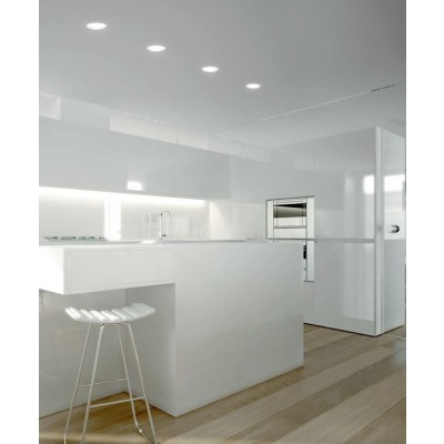 "Pannello Luminoso a LED Rotondo con Diametro 8"" 24W Bianco Neutro - Techly - I-LED-PAN-26W-NW8-2"