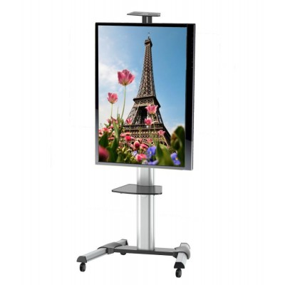 "Supporto a Pavimento con una Mensola Trolley TV LCD/LED/Plasma 37-70"" - Techly - ICA-TR15-3"