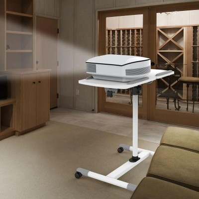 Trolley Flessibile Universale per Notebook / Proiettore, Bianco - Techly - ICA-TB TPM-5-2