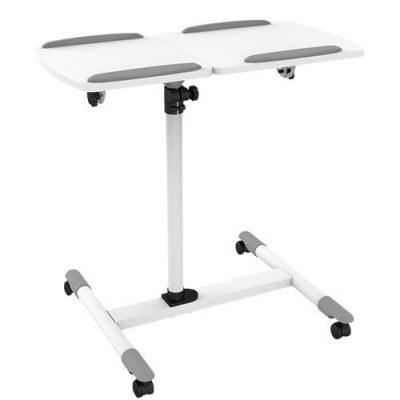 Trolley Flessibile Universale per Notebook / Proiettore, Bianco - Techly - ICA-TB TPM-5-1