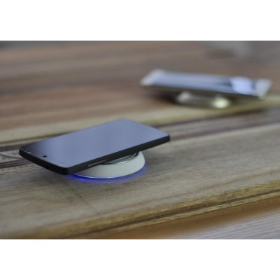 Caricabatterie Wireless Qi Base Circolare per Smartphone Bianco - Techly Np - I-CHARGE-WRLW-6