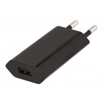 Caricatore USB 1A Compatto Spina Europea Nero - Techly - IPW-USB-ECBKG