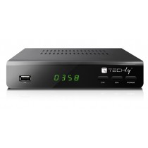 Decoder Digitale Terrestre DVB-T2 H265/HEVC 10bit Metallo con Display - Techly - IDATA TV-DT2MB