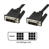 Cavo Monitor DVI digitale M/M Single Link 1,8m (DVI-D) - Techly - ICOC DVI-8000