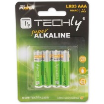 Blister 4 Batterie High Power Mini Stilo AAA Alcaline LR03 1.5V-Techly-IBT-KAL-LR03T