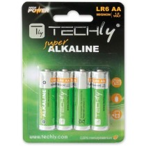 Blister 4 Batterie High Power Stilo AA Alcaline LR06 1,5V - Techly - IBT-KAL-LR06T