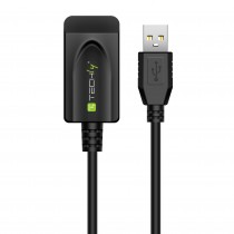 Cavo Prolunga Attivo USB Hi Speed 20m Nero - Techly - IUSB-REP220TY3