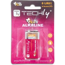 Blister 1 Batteria Power Plus Alcalina 6LR61 9V - Techly - IBT-KAP-LR61T