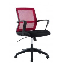 Sedia per Ufficio con Schienale Medio Nero Bordeaux-Techly-ICA-CT MC064