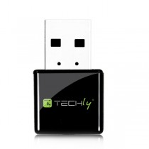 Mini Adattatore Wireless USB 300Mbps - Techly - I-WL-USB-300TY