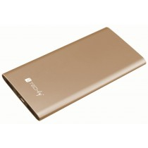 Carica Batterie Power Bank Slim per Smartphone Tablet 5000mAh USB Oro - Techly - I-CHARGE-5000LITY