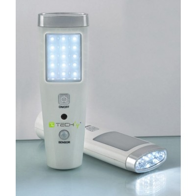 Emergency Lamp 15+5 LED Flashlight - Techly - I-LED EMGY15-2