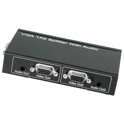 VGA Video Splitter 1x2 with Audio - Techly Np - IDATA VSP-0102-1