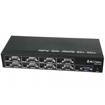VGA Video Splitter 1x8 with Audio - Techly Np - IDATA VSP-0108-1
