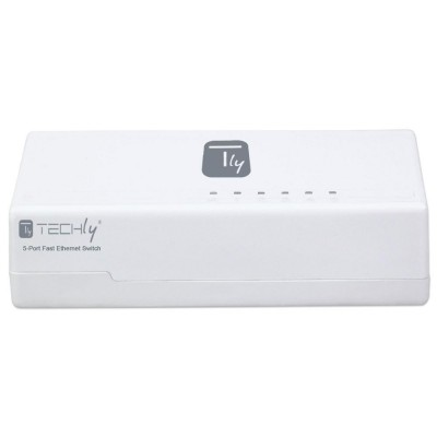 Switch Hub 5 Ports 10/100 Mbps Fast Ethernet - Techly - I-SWHUB-050TY-3
