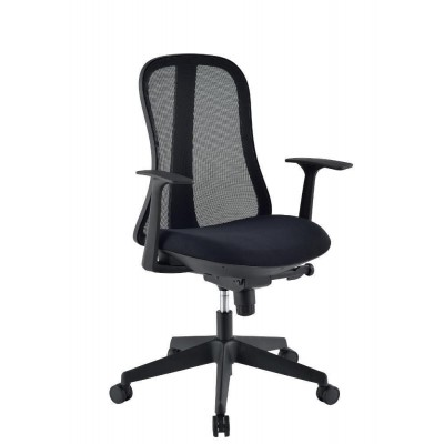 Office Chair with Ergonomic Back Black - Techly - ICA-CT MC086BK-1