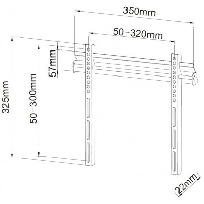 """Wall Mount Ultra Slim for LED LCD TV 19-37"""" - Techly - ICA-PLB 134S-3"""