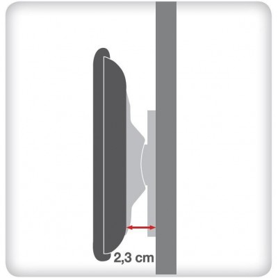 """23-55"""" Wall Fixed Slim Support  for LED TV LCD Black - Techly - ICA-PLB 139M-4"""