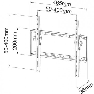 "Tilt Wall Mount for LED LCD TV 23-55"" Black - Techly - ICA-PLB 161M-3"