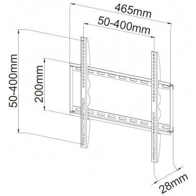 """Fixed Slim Wall Support for LCD LED 23-55"""" White - Techly - ICA-PLB 162MW-2"""