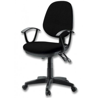 Delux Office Chair Black - Techly - ICA-CT P18BK-1