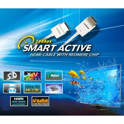 1m Active Cable HDMI 2.0 Technology RedMere 18 Gbps - Techly - ICOC HDMI-RM2-010-4
